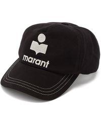 Isabel Marant タイロン ロゴ コットンキャンバスキャップ - ブラック
