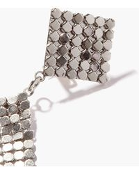 Etro Fringed Crystal-chainmail Clip Earrings - Metallic