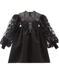 Christopher Kane Cupcake Lace And Duchess Satin Dress - Black