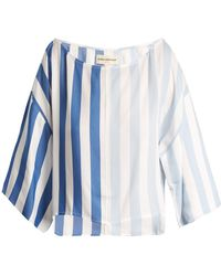 Mara Hoffman - Sophia Off-the-shoulder Striped Cropped Top - Lyst