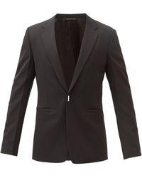 Givenchy ロゴプレート ウールブレンドジャケット - ブラック