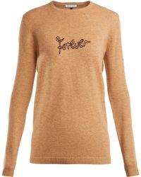 Bella Freud - Forever Embroidered Wool Blend Jumper - Lyst
