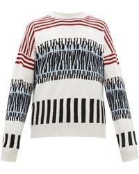 E. Tautz - Abstract Stripe Intarsia Wool Sweater - Lyst