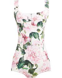 Dolce & Gabbana - Peony Print Body - Lyst