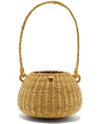 Muuñ Oriane Straw Basket Bag - Brown