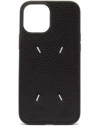 Maison Margiela Iphone 12 Pro Max レザーケース - ブラック