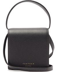 Tsatsas マルバ 2 グレインレザー クロスボディバッグ - ブラック