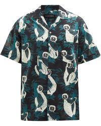 Desmond & Dempsey シファカ コットン パジャマシャツ - マルチカラー