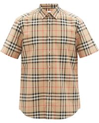 Burberry - Caxton Vintage-check Cotton-poplin Shirt - Lyst
