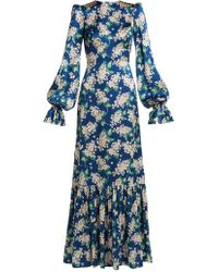 The Vampire's Wife - Belle Floral Print Silk Dress - Lyst