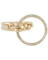 Charlotte Chesnais - - Three Lovers Diamonds & Yellow Gold Ring - Womens - Yellow Gold - Lyst