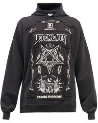 Vetements Hardcore Logo-patch Cotton-blend Sweatshirt - Black