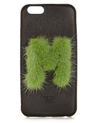 Fendi - - Leather Iphone® 6 Case - Womens - Black Green - Lyst