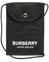Burberry Logo-print Cross-body Bag - Black