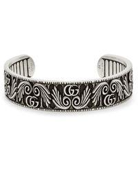 Gucci GG Marmont Flower Sterling Silver Bracelet - Metallic