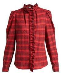 Étoile Isabel Marant - Dules Ruffle Collar Cotton Shirt - Lyst