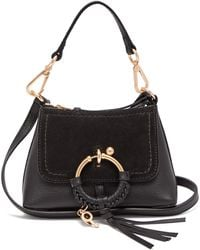 See By Chloé Joan Mini Leather And Suede Cross-body Bag - Black
