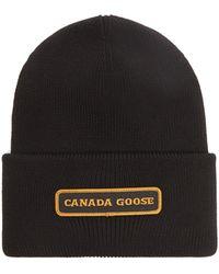 Canada Goose メリノウールビーニー - ブラック