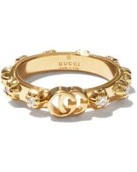 Gucci ダイヤモンド 18kゴールドリング - メタリック