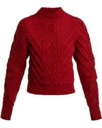 Isabel Marant - Brantley Aran Knit Cotton Jumper - Lyst