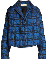 Marni | Geometric-print Quilted Jacket | Lyst