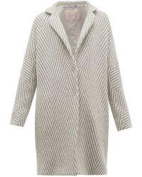 Herno Snowflake Metallic Wool-herringbone Jacket