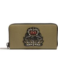 Christian Louboutin - Panettone Crest-embellished Leather Wallet - Lyst