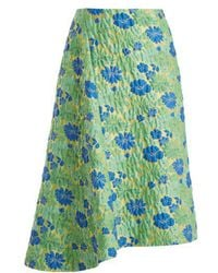 Jil Sander - Falsetto Floral-brocade Wrap Skirt - Lyst