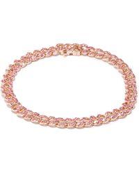 SHAY サファイア 18kローズゴールドブレスレット - ピンク