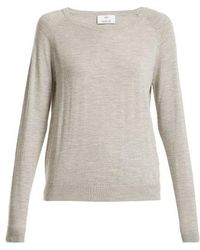 Allude - Round-neck Long-sleeved Wool T-shirt - Lyst
