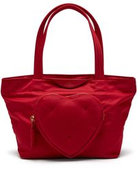 Coloris Lyst Chubby En Anya Rouge Heart Hindmarch Nylon Cabas w11tqr0