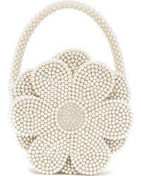 Shrimps - Buttercup Faux Pearl Embellished Bag - Lyst