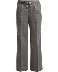 Undercover Straight-leg Cashmere Pants - Grey