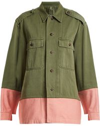 MYAR - Hungarian Contrast Colour Military Jacket - Lyst