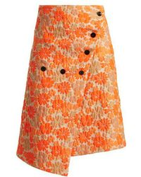 Jil Sander - Fresia Floral-brocade Wrap Skirt - Lyst