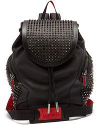 Christian Louboutin Explorafunk Studded Leather Backpack - Black