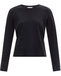 The Row シャーマン コットン ロングスリーブtシャツ - ブラック