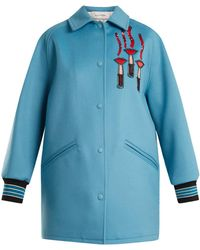Valentino - Logo-appliqué Wool-blend Jacket - Lyst