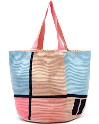 Sophie Anderson Jonas Woven Tote Bag - Blue