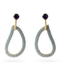 Zeus+Dione X Ileana Makri Lachouri Crystal Drop Earrings - Blue