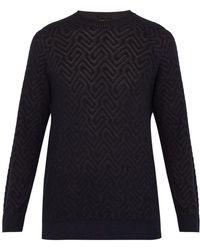 Giorgio Armani - Jacquard Crew Neck Sweater - Lyst