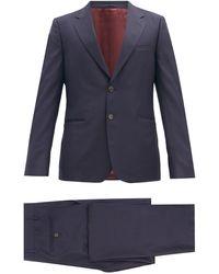 Gucci ロンドン ウールブレンド シングルスーツ - ブルー