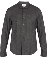 Wooyoungmi | Prince Of Wales-checked Single-cuff Flannel Shirt | Lyst