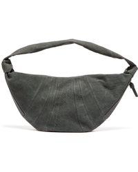 Lemaire Maxi Croissant Cotton Canvas Cross Body Bag - Grey