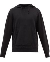 Barena Gareta Fleeceback Cotton-blend Hooded Sweatshirt - Black