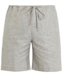 Zimmerli - Straight-leg Cotton Linen Blend Shorts - Lyst