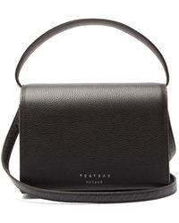 Tsatsas Malva 4 Grained-leather Bag - Black