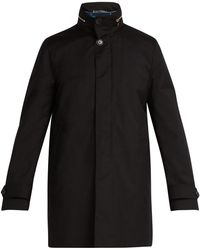 Paul Smith - High Neck Gilet Lined Wool Peacoat - Lyst