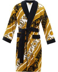 Versace White And Gold I Heart Baroque Robe - Multicolour