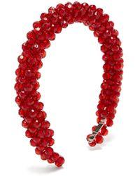 Shrimps Antonia Beaded Headband - Red
